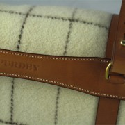 Blanket & Leather Carrier - Detail