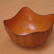 Ribbed Leather Bowl